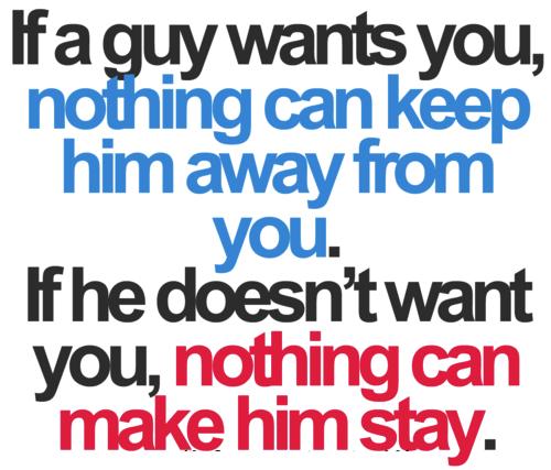 ele não está afim de você